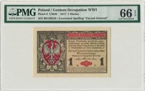 1 marka 1916 Generał - PMG 66 EPQ