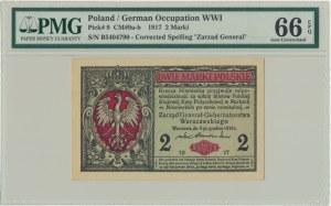 2 marki 1916 Generał - B - PMG 66 EPQ