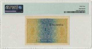 1/2 marki 1916 Generał - PMG 64