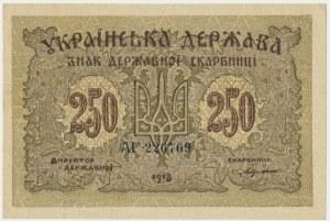 Ukraine, 250 karbovanets 1918 - AF