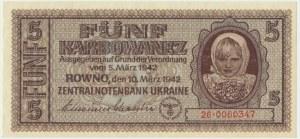Ukraine, 5 karbovanets 1942
