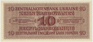 Ukraine, 10 karbovanets 1942