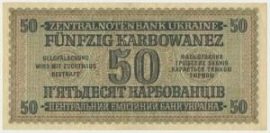 Ukraine, 50 karbovanets 1942