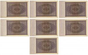Niemcy, 100.000 marek 1923 (7 szt.)