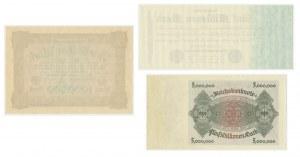 Niemcy, zestaw 1-5 milionów marek 1923 (3 szt.)