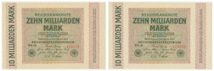 Germany, set of 10 billion mark 1923 (2pcs.)