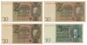 Germany, lot 10-20 mark 1929 (4pcs.)