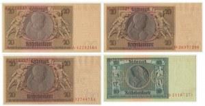 Niemcy, zestaw 10-20 marek 1929 (4 szt.)