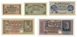 Germany, lot Reichsmark (1940-45) (5pcs.)