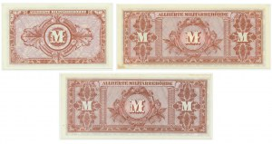 Germany, allied occupation money, set of 10 and 20 mark 1944 (3 pcs.)