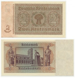 Germany, Soviet Occupation, 2 and 5 mark (1948) (2 pcs.)