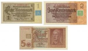 Niemcy, Okupacja Sowiecka, zestaw 1-5 marek (1948) (3 szt).