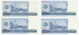 Niemcy (DDR), zestaw 100 marek 1975 (4 szt.)
