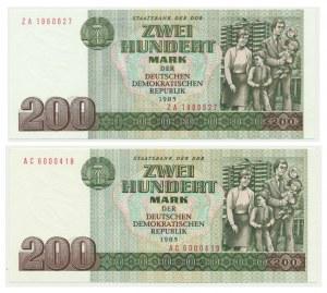 Germany (DDR), lot 200 mark 1985 (2 pcs.)