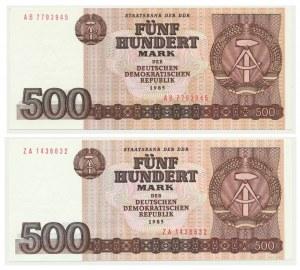 Germany (DDR), lot 500 mark 1985 (2 pcs.)