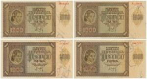 Croatia, lot 1.000 Kuna 1941 (4pcs.)