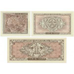 Japonia, aliancka okupacja , zestaw 10 sen - 20 jenów (1945) (3 szt.)