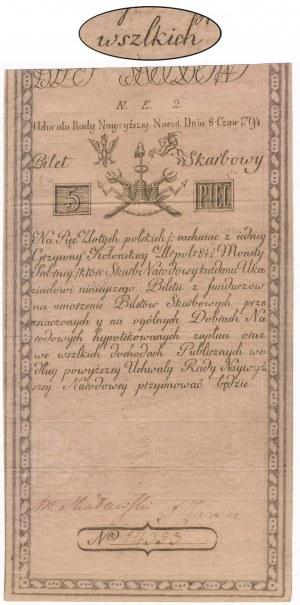 5 złotych 1794 - N.E.2 z błędem ...wszlkich - znw. J.HONIG - PRAWDZIWA RZADKOŚĆ