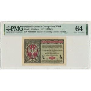 1/2 marki 1916 Jenerał - A - PMG 64