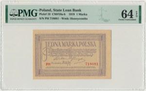 1 marka 1919 - PH - PMG 64 EPQ