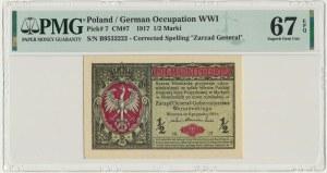 1/2 marki 1916 Generał - PMG 67 EPQ