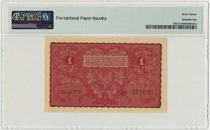 1 marka 1919 - I Serja FU - PMG 67 EPQ
