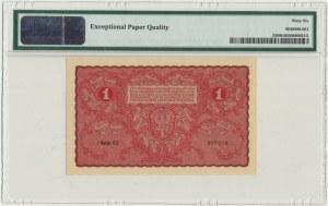 1 marka 1919 - I Serja CJ - PMG 66 EPQ