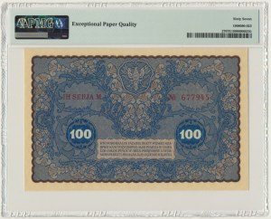 100 marek 1919 - IH Serja M - PMG 67 EPQ
