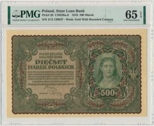 500 marek 1919 - I Serja CS - PMG 65 EPQ