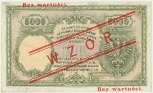 5.000 złotych 1919 - WZÓR - niski nadruk - RZADKI