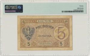 5 złotych 1924 - II EM.A - PMG 20