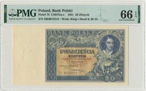 20 złotych 1931 - D.K - PMG 66 EPQ
