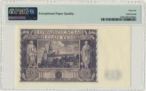 20 złotych 1936 - DA - PMG 66 EPQ