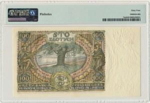 100 złotych 1932 - Ser.AŁ. - PMG 64
