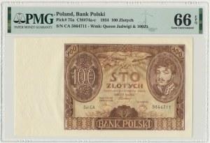 100 złotych 1934 - Ser.C.A - PMG 66 EPQ