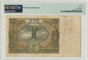 100 złotych 1934 - Ser.AI - PMG 30 - oryginalny przedruk okupacyjny
