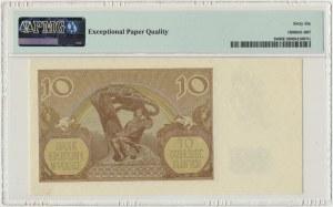10 złotych 1940 - A - PMG 66 EPQ - poszukiwana seria