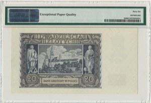 20 złotych 1940 - N - PMG 66 EPQ
