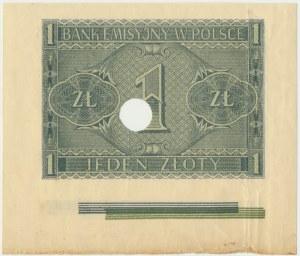 1 złoty 1941 z paserami drukarskimi - RZADKOŚĆ