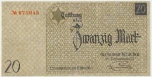 20 marek 1940 num.1 - papier ze znakiem wodnym - RZADKOŚĆ