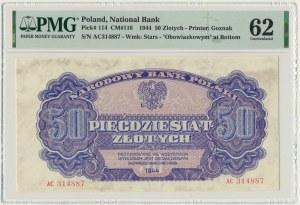 50 złotych 1944 ...owym - AC - PMG 62