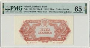 2 złote 1944 ...owym - Am - PMG 65 EPQ