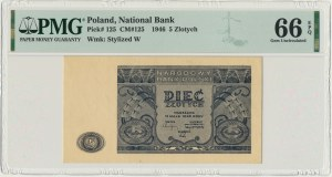 5 złotych 1946 - PMG 66 EPQ