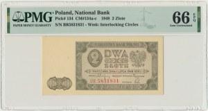 2 złote 1948 - BR - PMG 66 EPQ