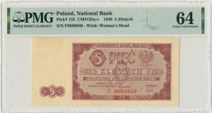 5 złotych 1948 - F - PMG 64