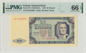 20 złotych 1948 - FP - PMG 66 EPQ