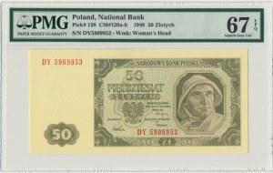 50 złotych 1948 - DY - PMG 67 EPQ