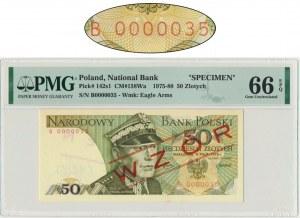 50 złotych 1975 - B 0000035 - PMG 66 EPQ - WZÓR JAROSZEWICZA