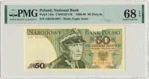 50 złotych 1988 - GB - PMG 68 EPQ - pierwsza seria rocznika