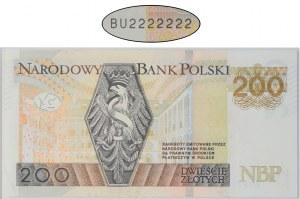 200 złotych 2015 - BU 2222222 - SOLID -